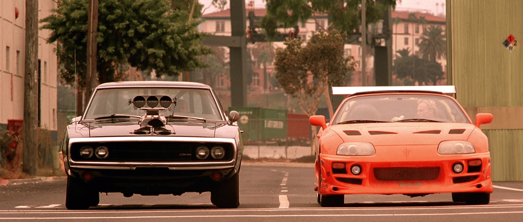 Fast & Furious 1 : Toyota Supra mk' et Dodge Charger R/T