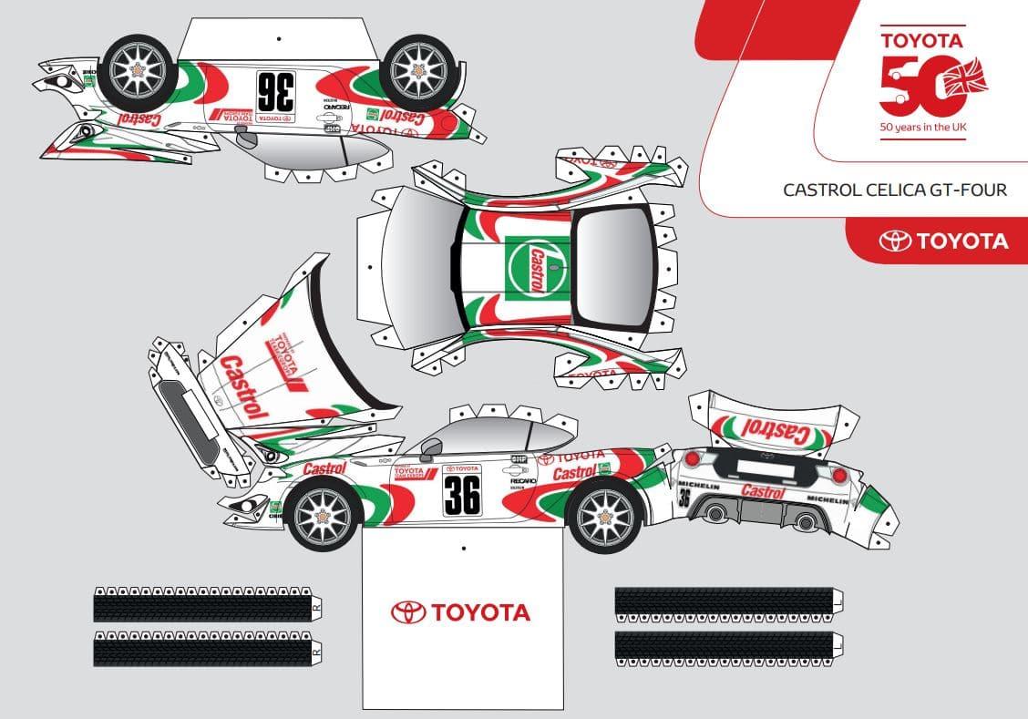 Maquettes en papier à monter Toyota GT86