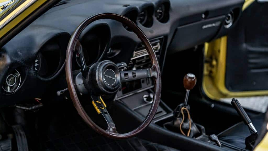 Intérieur de la Datsun 240Z