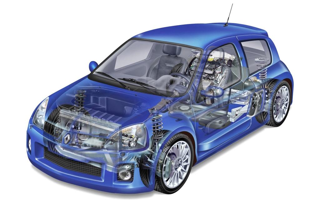Moteur arrière Renault Clio V6 phase 2