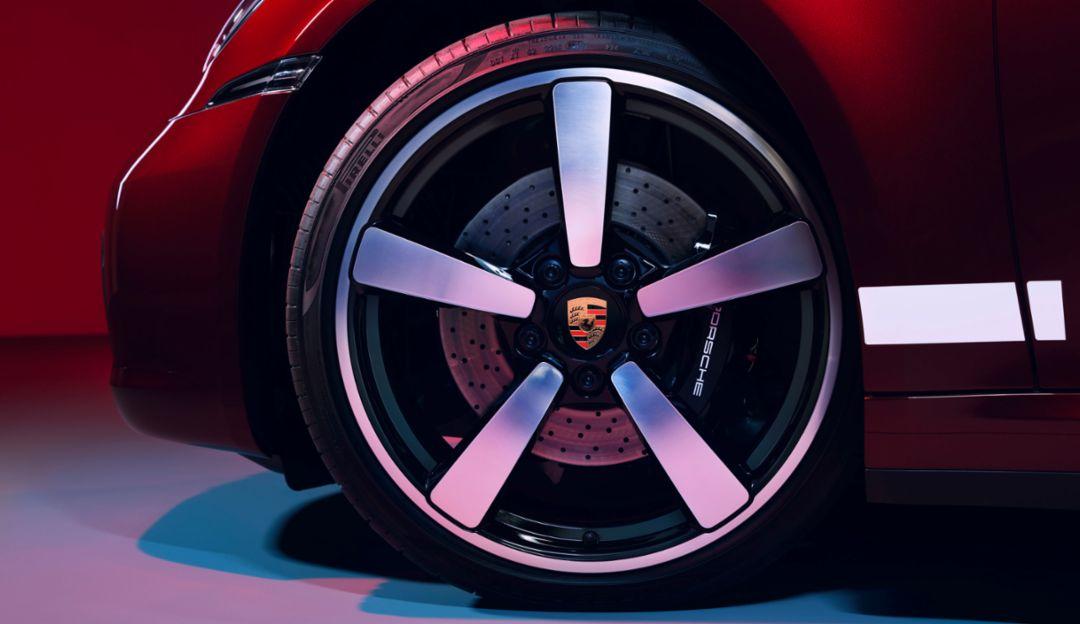 Jantes de la Porsche 911 (2020), inspirées du style fuchs