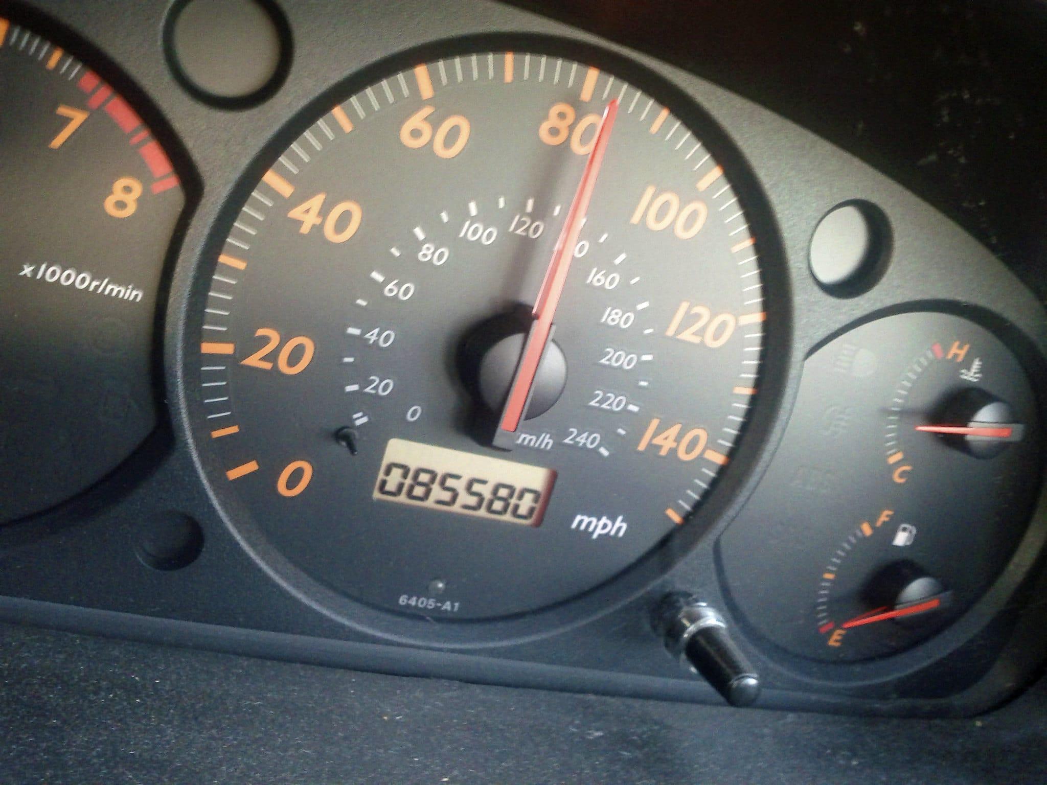 Compteur kilométrique trafiqué
