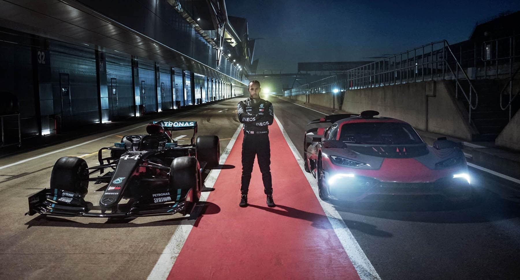Mercedes-AMG Project ONE avec Lewis Hamilton