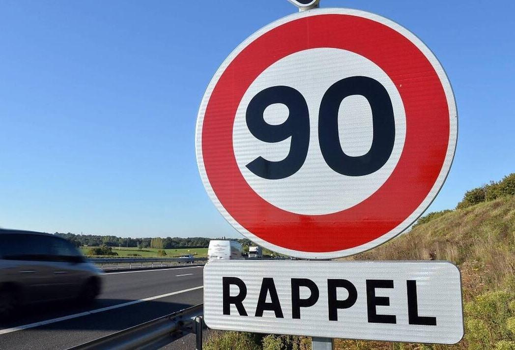Retour des 90 km/h et départements concernés