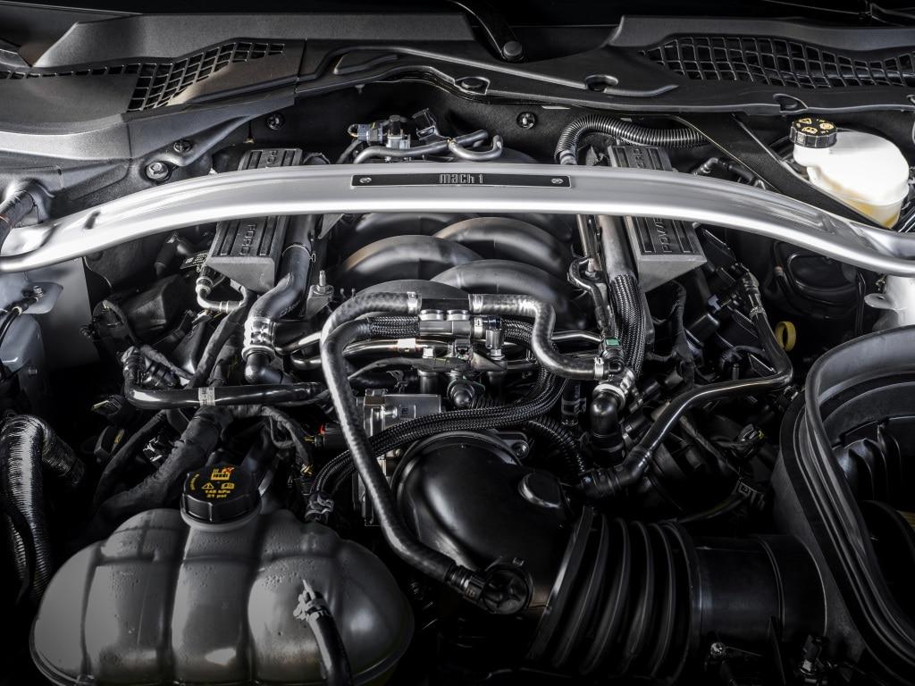 Moteur V8 de la Ford Mustang Mach 1 (2021)