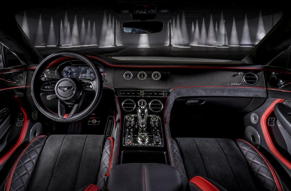 Intérieur de la Bentley Continental GT Speed (2021)