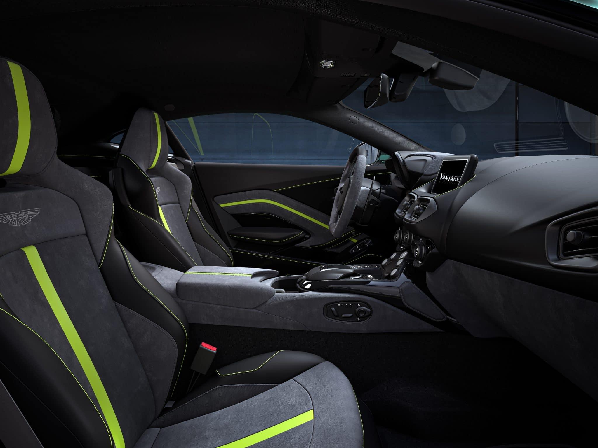 Intérieur de la Aston Martin Vantage F1 Edition