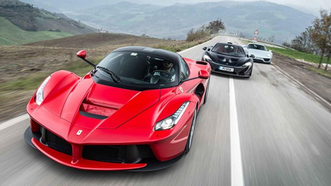 Ferrari LaFerrari, la Porsche 918 et McLaren P1